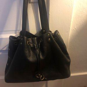 Black leather Hobo international shoulder bag